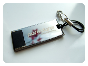 puredyne usb with flower reflection